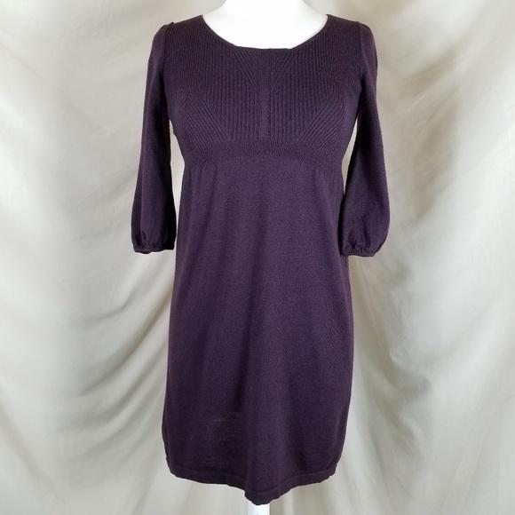 LOFT Dresses & Skirts - 🌻 LOFT Aubergine Sweater Dress